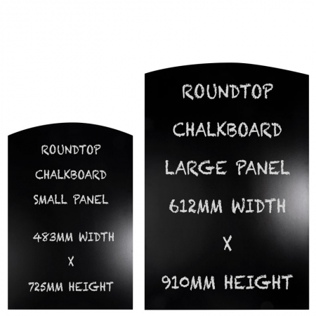 Round Top Chalkboard Panels